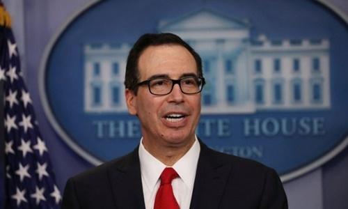 Bộ trưởng Thương mại Mỹ Steven Mnuchin. Ảnh: AFP.