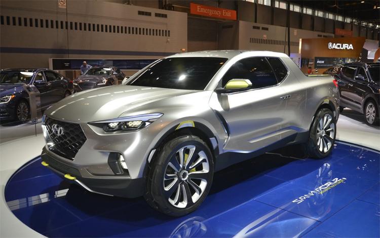 Santa Cruz concept - tiền thân của mẫu bán tải đầu tiên của Hyundai. Ảnh: Techmalak