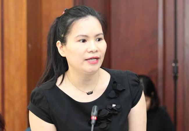Bà Phan Thị Thanh Xuân,Phó chủ tịch Hiệp hội Da - Giày và Túi xách Việt Nam.