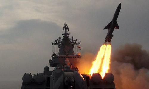 Tàu chiến Nga phóng tên lửa diệt mục tiêu cách 500 km - ảnh 1