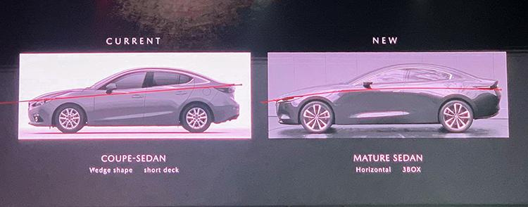 Sự khác biệt trong cách tạo hình thế hệ mới của Mazda3. Ảnh: Ngọc Điệp