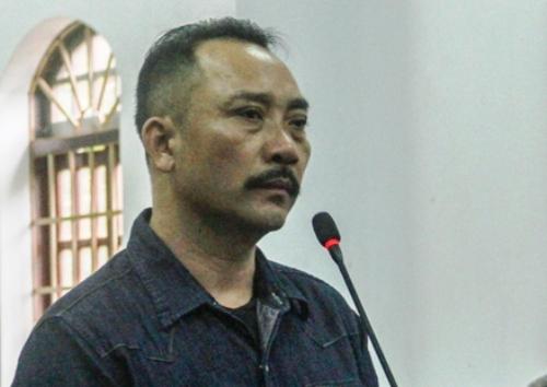 Phạm Hữu Phượng tại TAND tỉnh Đăk Nông, sáng 19/9. Ảnh: Trần Hóa.