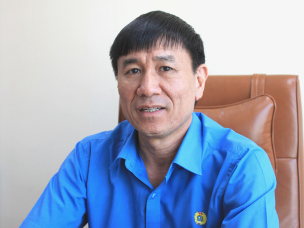 Ông Lê Đình Quảng, Phó ban quan hệ Lao động, Tổng liên đoàn Lao động Việt Nam. Ảnh: Đoàn Loan.