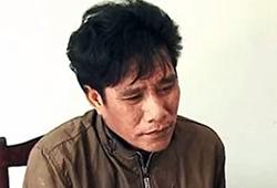Hùng tại cơ quan công an. Ảnh: Thái Tuấn.