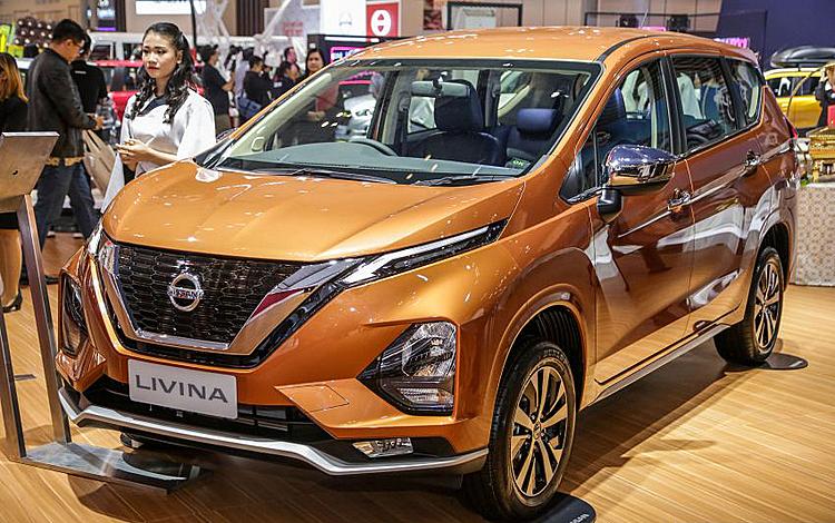 Nissan Livina tại triển lãm ôtô Gaikindo, Indonesia, tháng 7/2019. Ảnh:Paultan