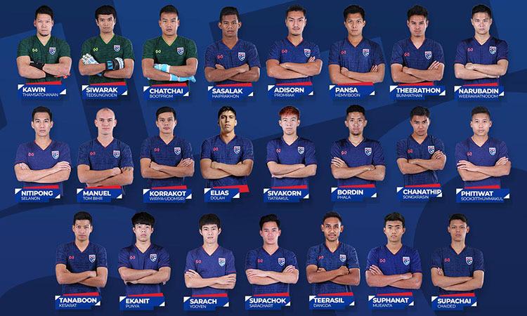 Danh sách 23 cầu thủ Thái Lan. Ảnh: Changsuek.