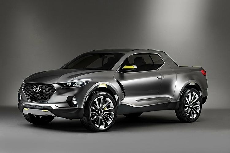 Xe bán tải concept Santa Cruz. Ảnh: Hyundai
