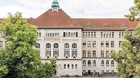 Khuôn viên trường Goethe Gymnasium tại thành phố Schwerin, Đức. Ảnh:Goethe Gymnasium.