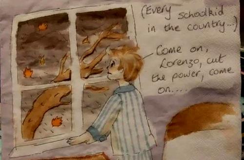 Bà mẹ vẽ tranh trên giấy ăn động viên con