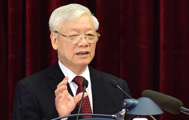 Tổng Bí thư, Chủ tịch nước Nguyễn Phú Trọng phát biểu khai mạc Hội nghị sáng 7/10. Ảnh: Nhật Bắc/VGP