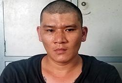 Trần Quang Vinh tại cơ quan công an. Ảnh: An Phước.