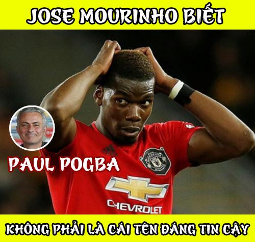 Mourinho bị sa thải và Pogba chơi thăng hoa nhưng khi cầu thủ này muốn rời đi thì phong độ đã xuống thảm hại.