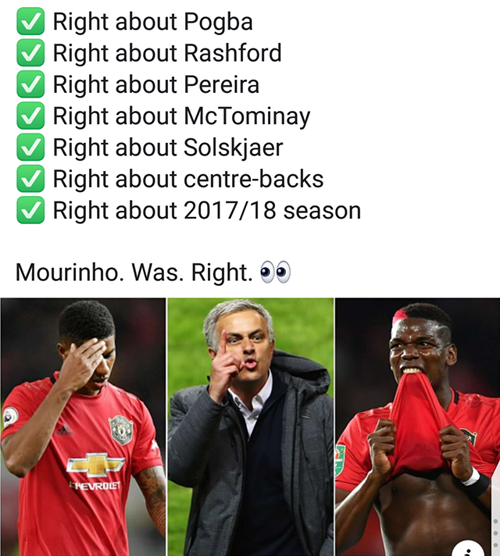 Những lời tiên tri của Jose đều đang ứng nghiệm.