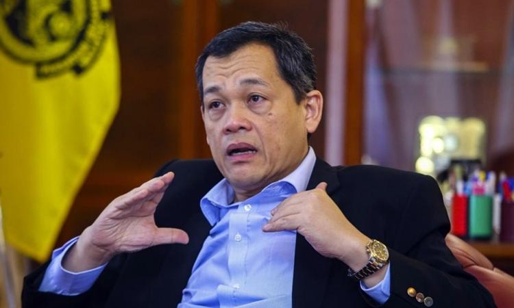 Chủ tịch FAM, Hamidin Mohd Amin đặt mục tiêu thắng Việt Nam trên sân khách. Ảnh: NST.