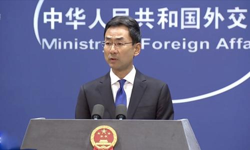 Người phát ngôn Bộ Ngoại giao Trung Quốc Cảnh Sảng tại buổi họp báo ở Bắc Kinh hôm 8/10. Ảnh: CGTN.