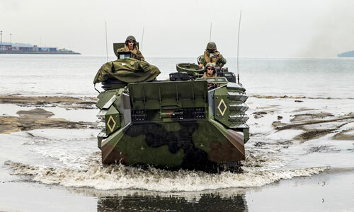 Quân đội Mỹ và Philippines tập trận chung hồi năm 2017. Ảnh: AP