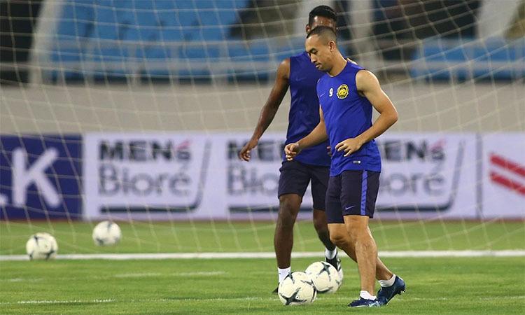 Talaha là cầu thủ nhiều tuổi nhất của Malaysia trong đợt sang Việt Nam lần này. Ảnh: Lâm Thỏa.