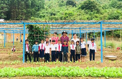 Giáo viên trồng rau bổ sung cho bữa ăn bán trú - ảnh 2