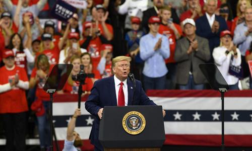 Tổng thống Mỹ Donald Trump phát biểu tại thành phố Minneapolis,bang Minnesota hôm 10/10. Ảnh: AFP.