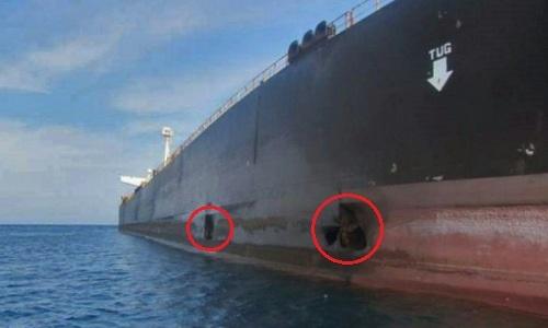 Iran công bố ảnh tàu dầu trúng tên lửa - ảnh 1