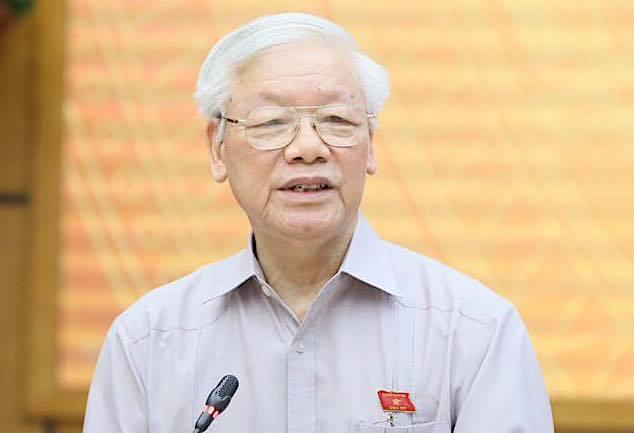 Tổng Bí thư, Chủ tịch nước Nguyễn Phú Trọng. Ảnh: Giang Huy
