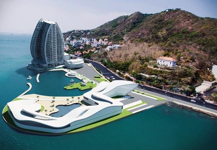 Phối cảnh dự án. Ảnh: Công ty cổ phần du lịch cáp treo Vũng Tàu.
