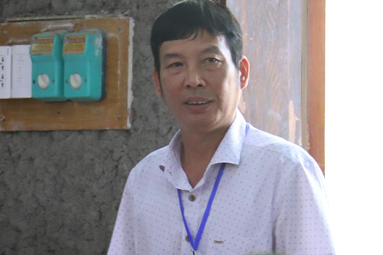 Nhân chứng Trần Văn Điện. Ảnh: Phạm Dự.