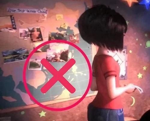 Cảnh phim có bản đồ chứa đường lưỡi bò. Ảnh: DreamWorks.