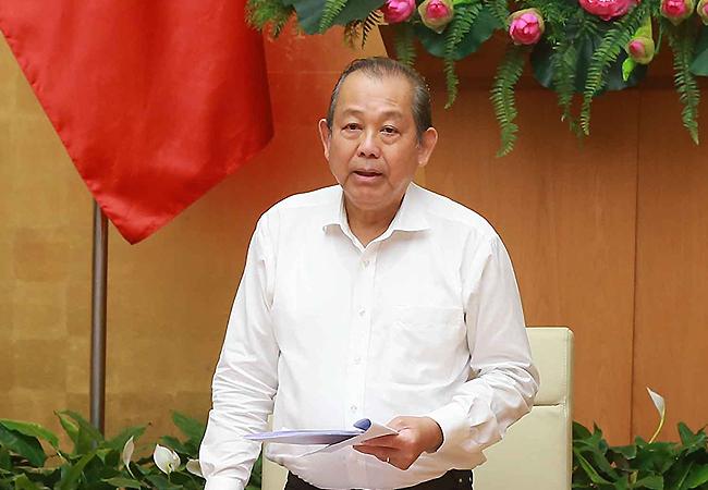 Phó thủ tướng Trương Hòa Bình. Ảnh:VGP
