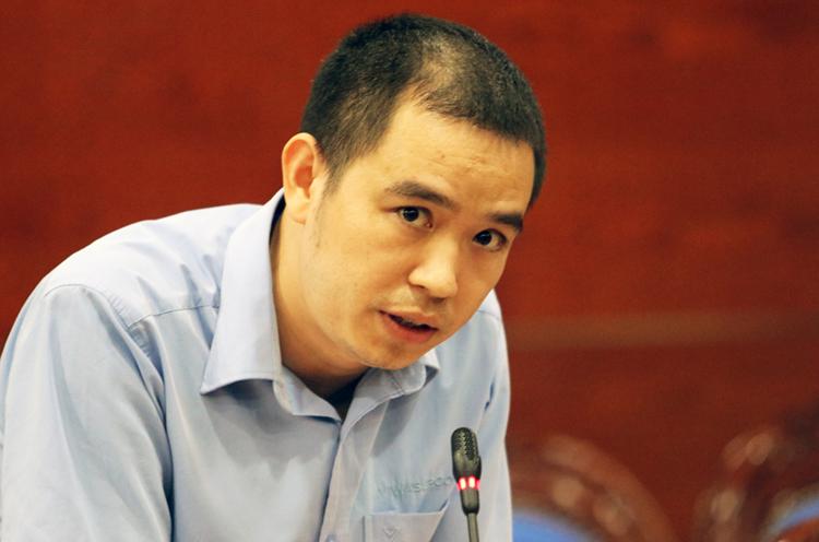 Phó giám đốc Công ty CP đầu tư nước sạch sông Đà. Ảnh: Võ Hải.