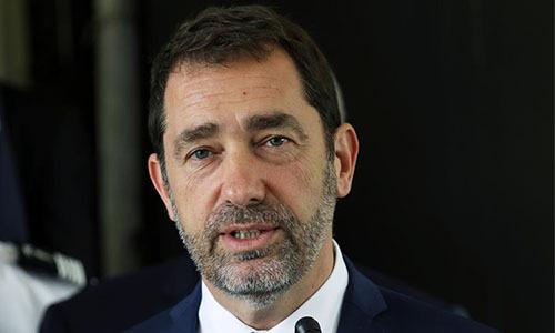 Bộ trưởng Nội vụ Pháp Bars Barshe Castaner phát biểu tại một hội nghị hồi tháng 5. Ảnh: Reuters.