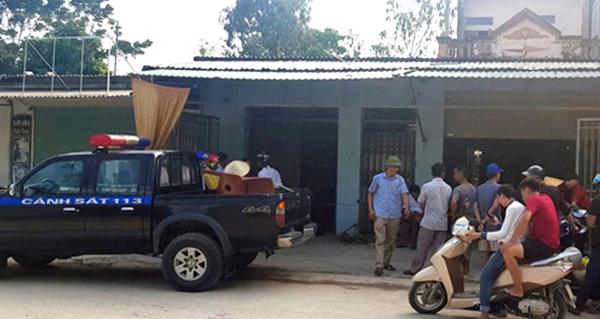 Cảnh sát 113 được huy động để vãn hồi trật tự sau vụ nổ súng. Ảnh: Lam Sơn.