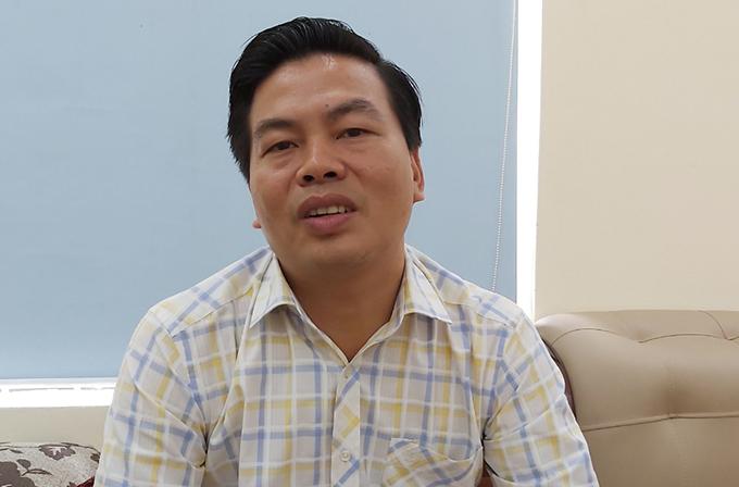 Ông Hoàng Hồng Khanh, Giám đốc công ty quản lý và phát triển hạ tầng đô thị thành phố Vinh. Ảnh: Nguyễn Hải.