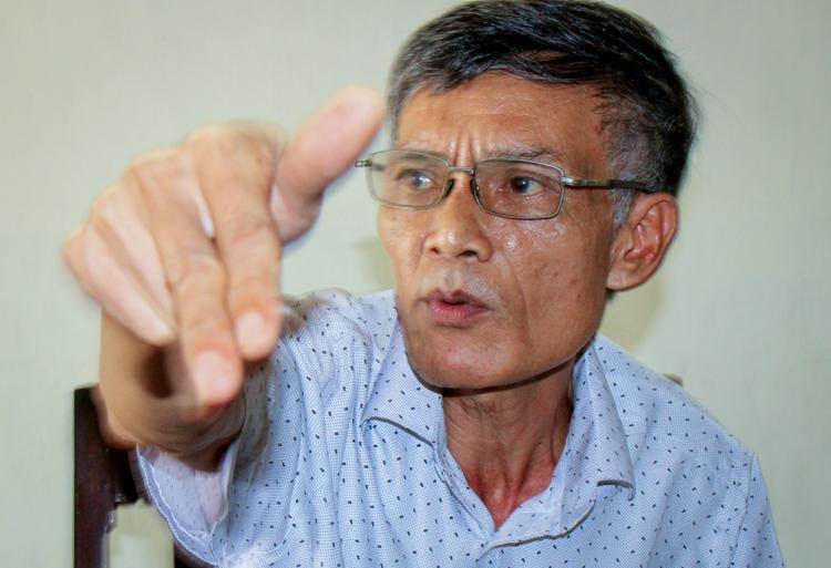 Trung tá Tạ Ngô Quyền, Chỉ huy trưởng đầu tiên của nhà giàn 1A Tư Chính. Ảnh: Phước Tuấn.
