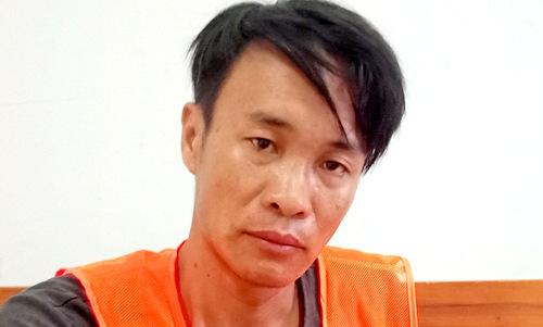 Lê Trịnh Duy Anh tại cơ quan công an. Ảnh: Trường Hà.
