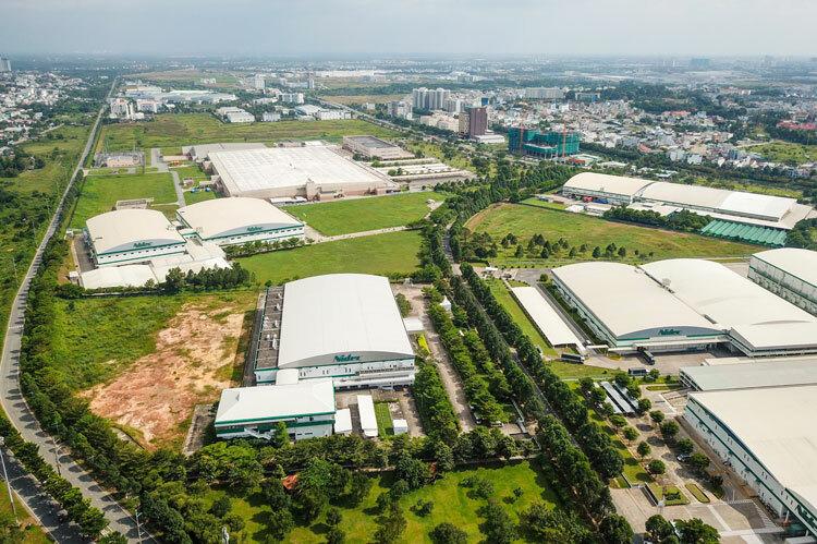 Khu nhà máy của Tập đoàn Nidec tại SHTP. Ảnh: Quỳnh Trần.