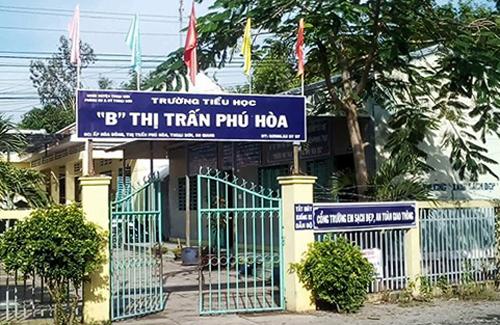 Trường tiểu học B thị trấn Phú Hoà. Ảnh: An Phú.