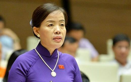 Đại biểu Nguyễn Thị Kim Thuý. Ảnh: Trung tâm báo chí Quốc hội
