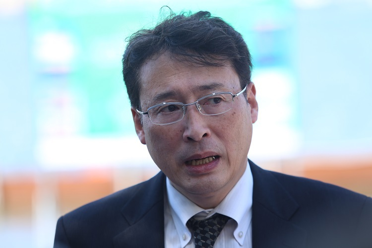 Tiến sĩ Tadasi Yamamura, Chủ tịch Tổ chức Xúc tiến Môi trường Thương mại Nhật Bản. Ảnh: Gia Chính