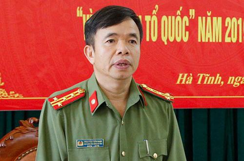 Đại tá Nguyễn Tiến Nam, Phó giám đốc Công an Hà Tĩnh. Ảnh: C.A