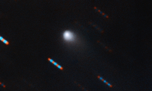 Sao chổi  Borisov bay tới hệ Mặt Trời. Ảnh: Science Alert.