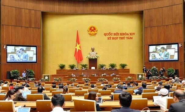 Một phiên họp toàn thể của kỳ họp thứ 8, Quốc hội khoá XIV. Ảnh: Trung tâm báo chí Quốc hội