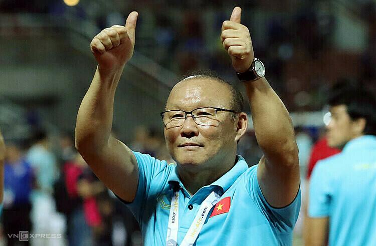 HLV Park Hang-seo tiếp tục gắn bó với Bóng đá Việt Nam ít nhất ba năm tới. Ảnh: Đức Đồng.