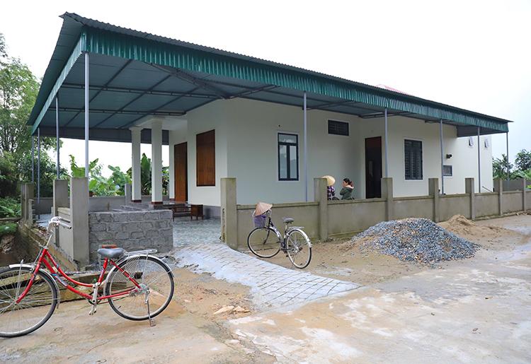 Ngôi nhà mới xây của vợ chồng anh Phong. Ảnh: Đức Hùng.