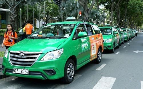 Xe của một hãng taxi truyền thống hoạt động ở TP HCM. Ảnh. Thành Dương