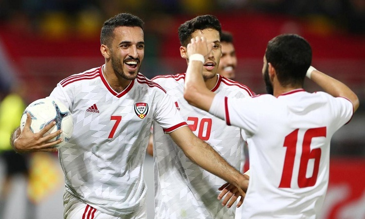Ali Mabkhout vắng mặt ở trận gặp Việt Nam là tổn thất lớn cho UAE. Ảnh: EPA.