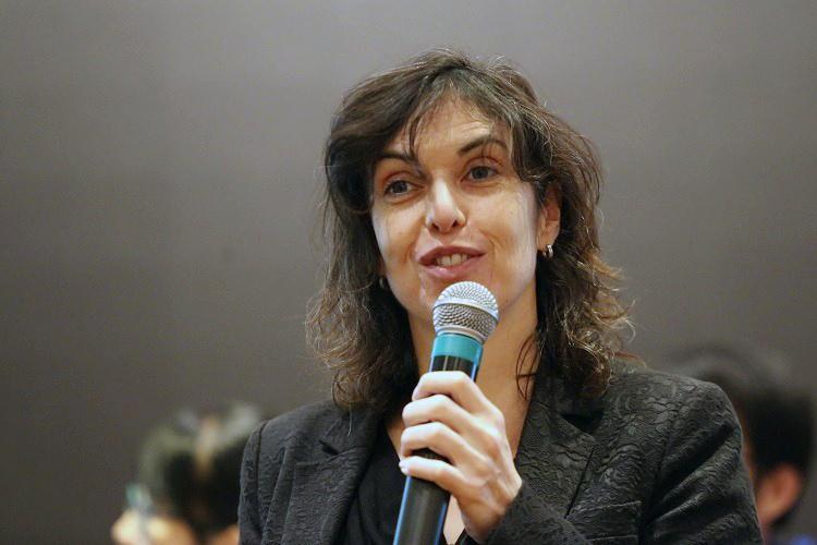 Bà Marije - chuyên gia Hà Lan phát biểu tại hội thảo. Ảnh: Gia Chính.