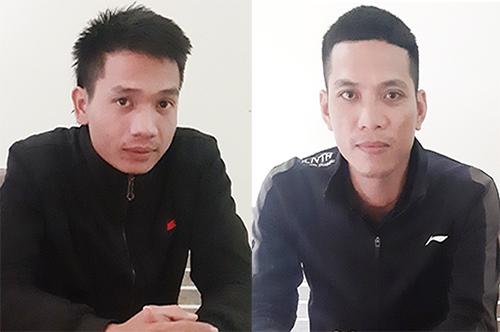 Nghi can Sơn (26 tuổi, bên trái) và Công (35 tuổi). Ảnh: C.A