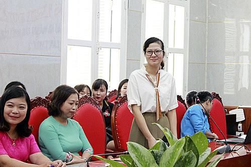 Cô giáo Phạm Thị Minh Ngọc, trường Mầm non Mai Dịch, quận Cầu Giấy, Hà Nội.