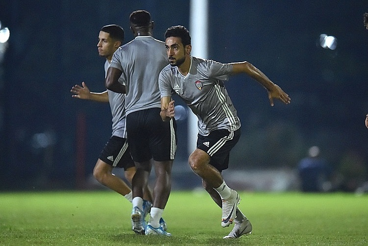 Jaber (phải) từng cùng UAE thua Việt Nam tại Mỹ Đình. Ảnh: Uaefa.